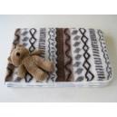 Detská deka MERINO ovčie runo VLNKA 100 x 140 cm