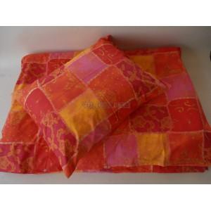 Obliečky bavlnené 140 x 200 / 70 x 90 cm LUX fialové