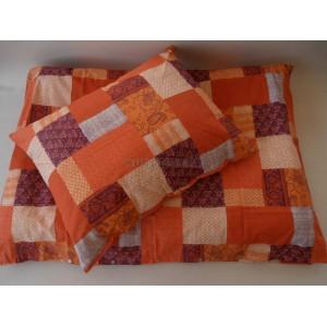 Obliečky bavlnené 140 x 200 / 70 x 90 cm LUX pomarancove