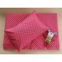 2-dielny set obliečky do postieľky De LUXE hviezda ružová