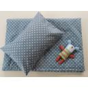 WHITE and GREY návliečky na posteľ bavlna De Luxe Star