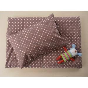 Návliečky na posteľ bavlna De Luxe Star hviezda hnedá