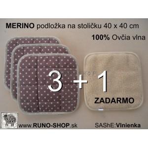 Zdravotná podložka na stoličku MERINO 3+1 AKCIA