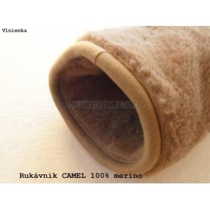Ovčie rúno Rukávnik CAMEL 100% merino LUX
