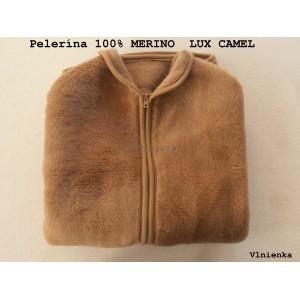 Pelerína/ poncho/ pončo 100% ovčie runo merino CAMEL LUX