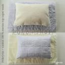 VLNENÁ SÚPRAVA zo 100 % OVČIEHO RÚNA MERINO TOP SUPER WASH a 100% bavlny NATURAL GREY