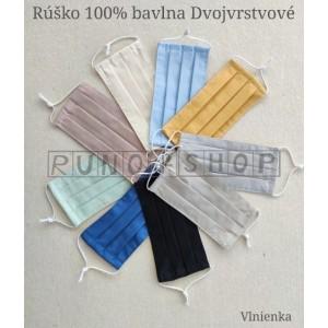 Ochranné rúško 100 % bavlna Dvojvrstvové Vlnienka